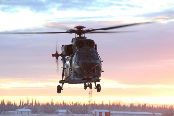 한국형 기동헬기 수리온(KUH)의 알래스카 저온비행시험 성공