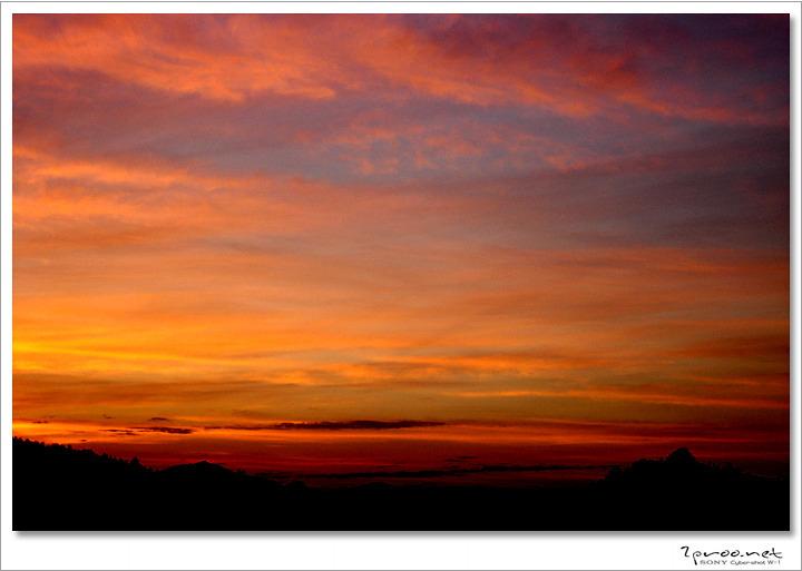 붉은 노을 사진 - 대전 갈마동