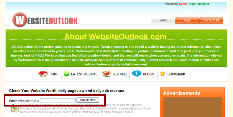 Website Outlook