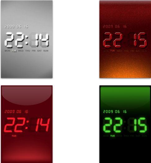 아이팟터치 아이폰 시계 Theme Clock