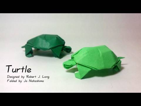 거북이 동물(Robert J. Lang) 종이접기 동영상