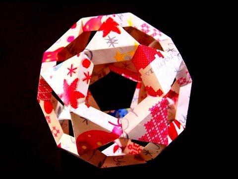 크리스마스 볼 쿠수다마 별공 종이접기 동영상