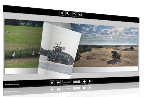 Flash Page Flip Photo Gallery template for Picasa