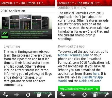 F1 2010 App (노키아 심비안)