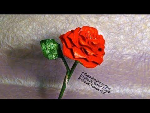 입체 장미2 (Miura Ken) 종이 꽃 접기 동영상