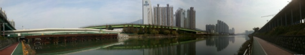 수영강 산책로(Suyeong River, Busan,South Korea