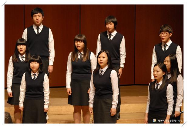 2012년 경남합창제 창원공연 진해용원고등학교 공연 사진