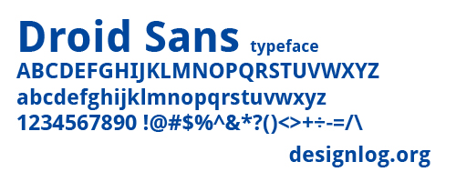 디자인 폰트 Droid Sans - Google Android