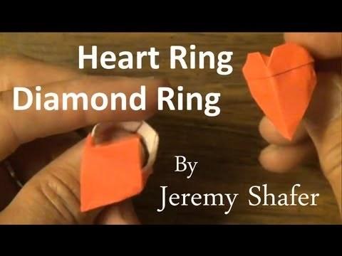 하트 반지/다이아몬드반지 (Jeremy Shafer) 액세서리 종이접기 동영상
