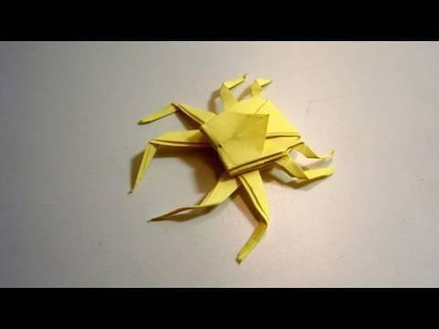 거미게 종이접기 동영상