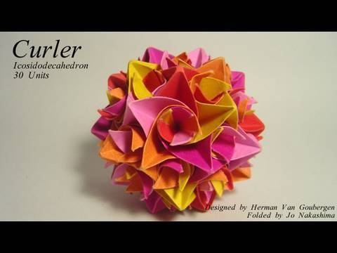 Curler Icosidodecahedron 종이접기 동영상