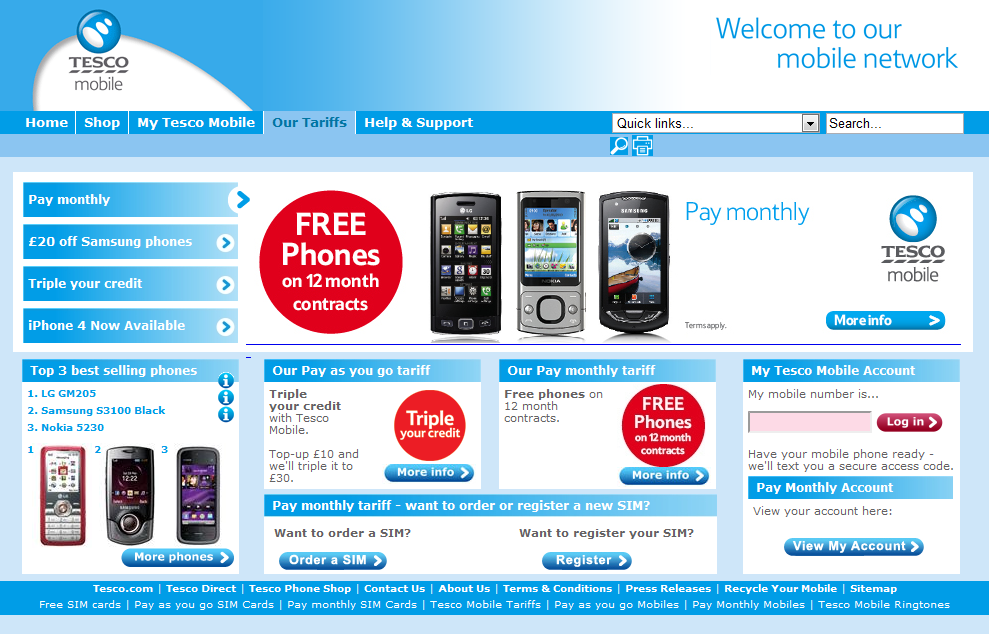 TESCO Mobile - Simple Tariff