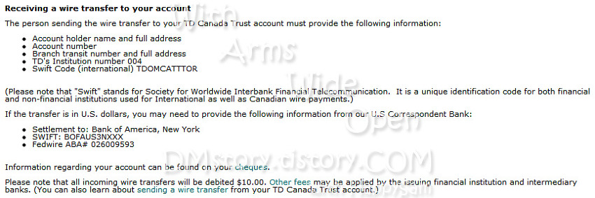 With Arms Wide Open :: 캐나다에서 한국 송금 (Wire Transfer), 각 은행