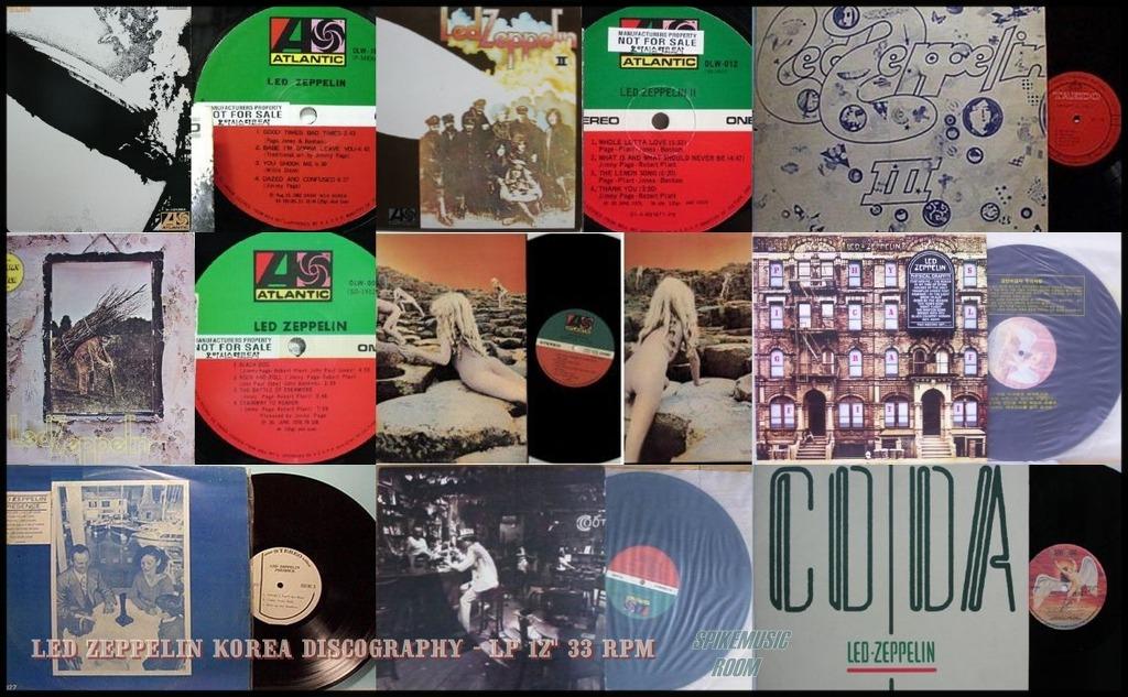 Led Zeppelin Collection (Studio Album 1969-1982) Vinyl Rip (24 Bit/96 kHz)