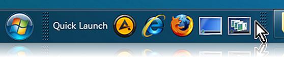 Windows 7에서 빠른 실행(Quick Launch) 되살리기