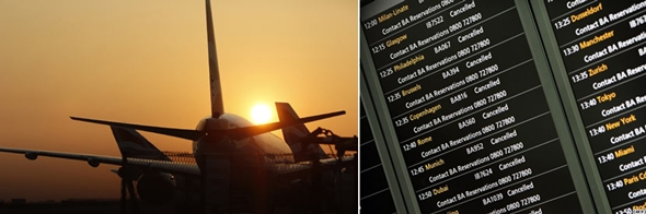 유럽은 사실상 항공편 운항이 불가능한 상태