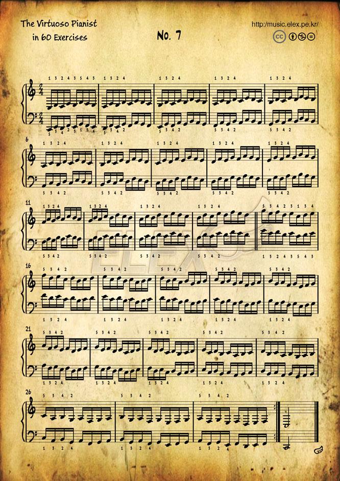 The Virtuoso Pianist in 60 Exercises #7