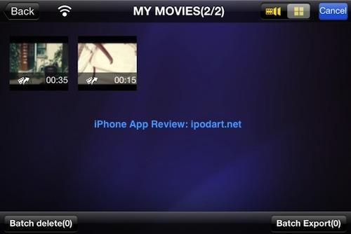 Movie360 아이폰 아이패드 실시간효과 동영상 촬영
