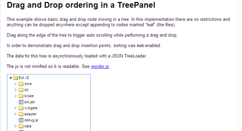Drag and Drop ordering in a TreePanel