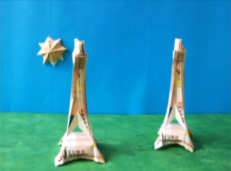 달러 에펠탑(Joost Langeveld) 종이접기 동영상