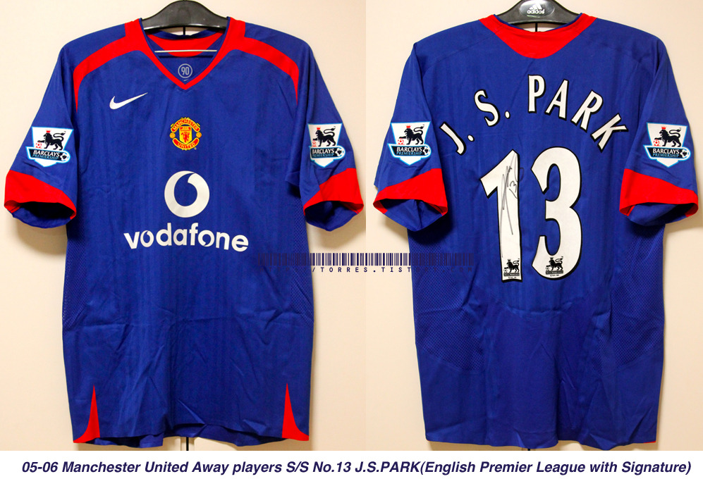 05-06 Manchester United Away players S/S No.13 J.S.PARK (Engligh Premier League with signature)