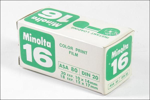 Minolta 16 COLOR PRINT FILM