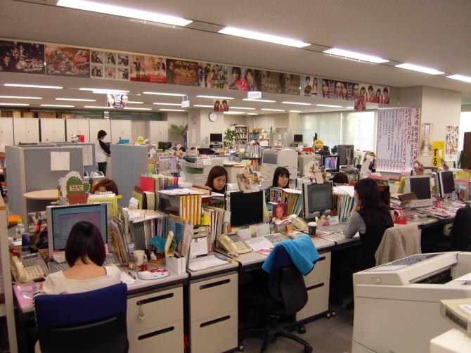 일본 후지TV 사무실 내부