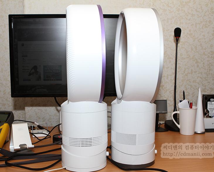 다이슨 선풍기 소음, 전력소모량, 비교, 벤치마크, HPM-100A, 와트맨, 다이슨 선풍기, dyson, multiplier, 소음, 소음계, center-320, 사용기, 후기, 리뷰, IT, 이미테이션, 소송, 팬, 분해,다이슨 선풍기 소음 전력소모량 비교 벤치마크  더운 여름철이 다가오고 있습니다. 이제 선풍기의 사용량이 점점 많아질텐데요. 디자인적으로도 괜찮고 안전하기도한 다이슨 선풍기를 한번쯤 생각해보셨을 텐데요. 저 역시 지금 써보기 전에는 팬없는 선풍기는 다이슨에서만 만들고 다 같은 제품인줄 알았는데 이미테이션 제품들이 많이 있더군요. 이번시간에는 정품 다이슨 선풍기와 이미테이션 제품들의 팬소음 및 전력 소모량 등을 비교를 해 볼것입니다.  처음 사용할 때에는 다이슨 선풍기의 상징적인 둥근 날개 부분안에 뭔가 들어있을거라는 생각을 했었는데 둥근 날개역할을 하는 부분안은 텅텅 비어있더군요. 이부분이 핵심이 아니라 아래부분이 핵심이더군요. 아래부분에서 바람을 끌어올려서 서로 다른 방향으로 올리면 위에 둥근 원형 통로길을 서로 바람이 올라가고 뒤쪽의 틈 사이로 바람이 나와서 다시 날개를 타고 바람이 직진하는 그런 형태 입니다. 말로 설명하려니 복잡하지만 실제 바람을 일으키는 부분이 몸통 안에 있다고 아시면 될듯하네요.