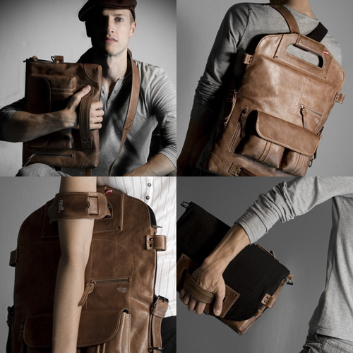 노트북 가방 2UNFOLD Multi-use Leather Laptop Bag