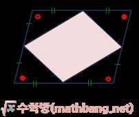평행사변형의 중점을 연결해서 만든 사각형 - 평행사변형