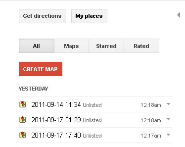 구글맵 지도 공유