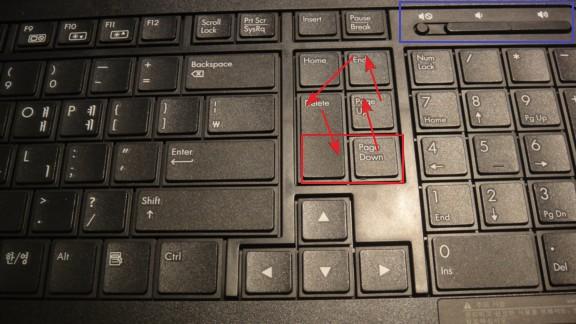 HP 무선 키보드 배열