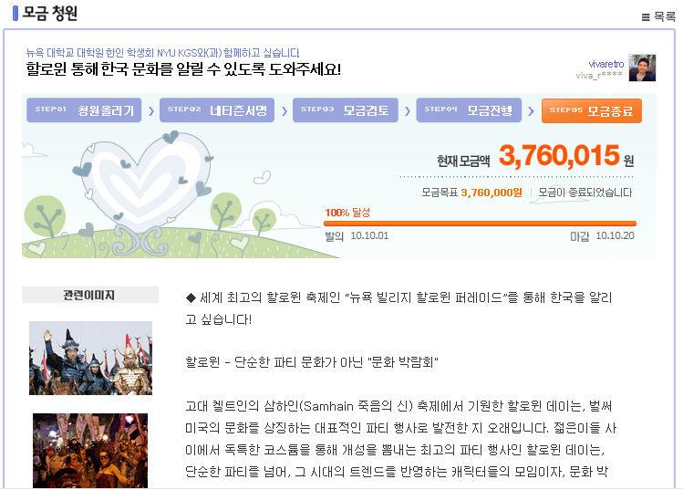 1만 네티즌의 힘으로 한국을 알리게 되었습니다!