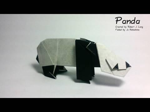 팬더(Robert J. Lang) 동물 종이접기 동영상