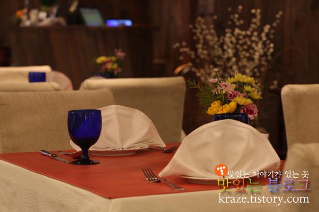 안나비니 내부 테이블