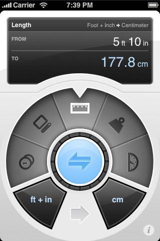 아이팟터치 아이폰 단위계산 앱 Convertbot