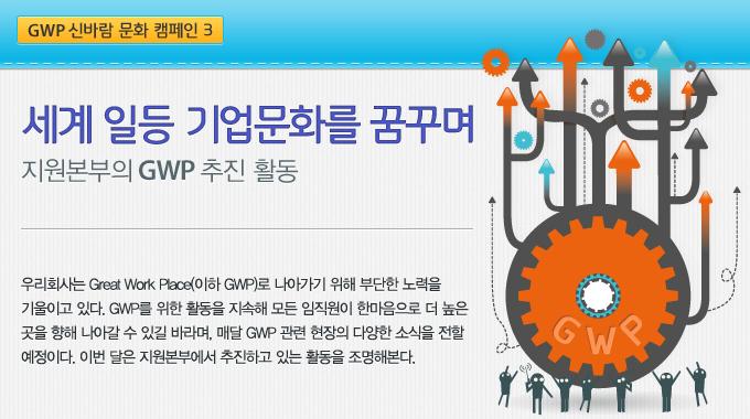 세계 일등 기업문화를 꿈꾸며 - GWP 신바람 문화 캠페인