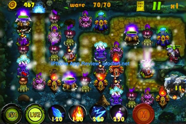 아이폰 아이팟터치 아이패드 디펜스 게임 타워크래프트 TowrCraft