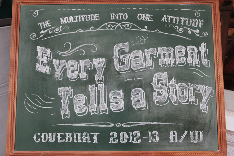 COVERNAT 2012 A/W Collection 'Every Garment Tells a Story' Presentation