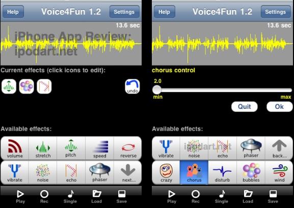아이폰 목소리 변조 음향효과 Voice 4 Fun