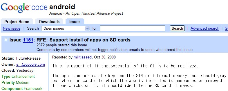 install apps on SD cards