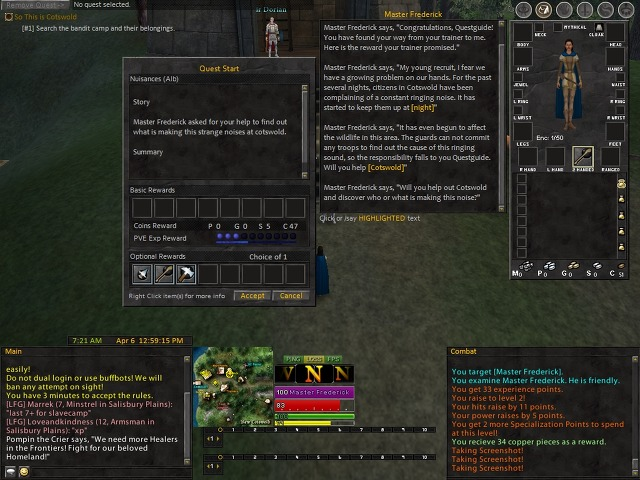 Voina's Gallery :: Albion Basic Quest Guide