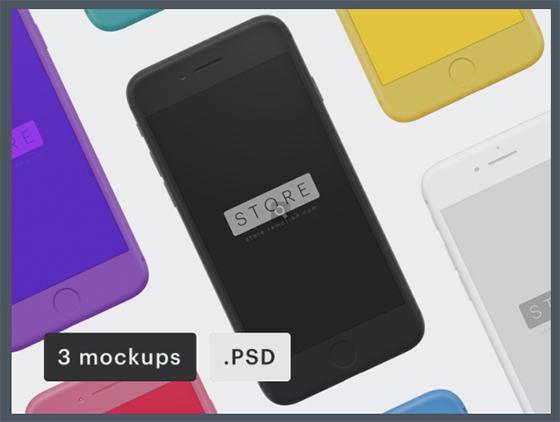 아이폰 목업 PSD