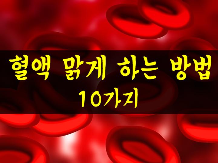 혈액 맑게 하는법 10가지