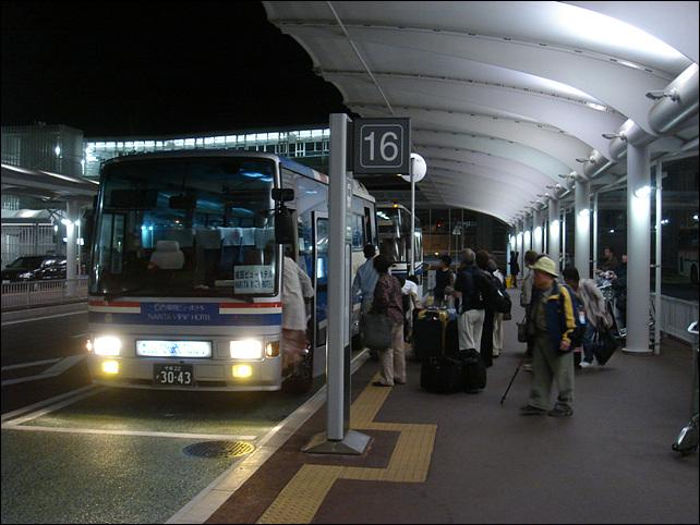 호텔로 가는 셔틀버스