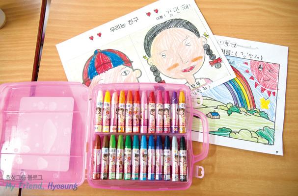 효성이 초등학교 취학 자녀를 둔 용연공장 임직원들에게 선물한 학용품