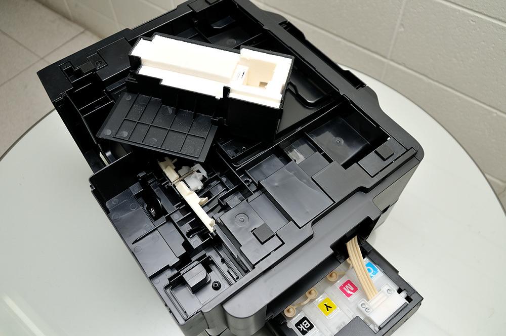 EPSON 정품 무한 L555 폐잉크통 설치