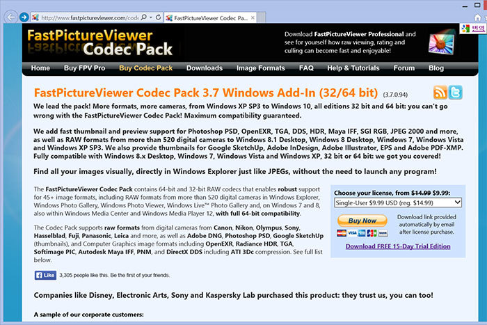 Fast Picture Viewer Codec Pack