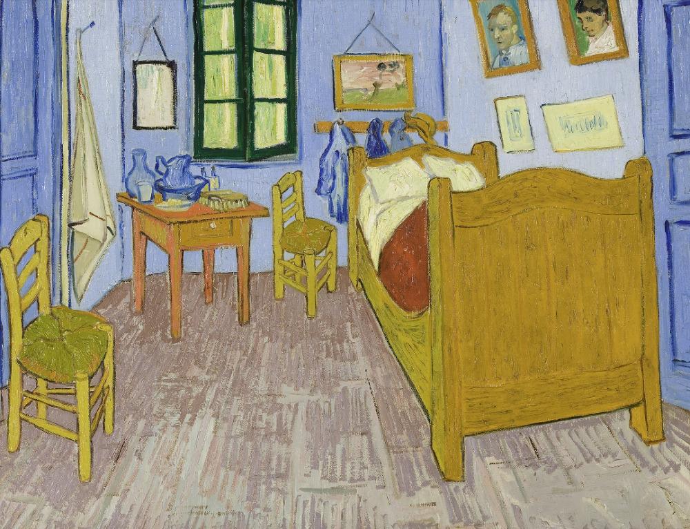 유명 화가들의 예술작품에서 추출하는 어울리는 색조합 사이트 Color Lisa_vincent van gogh_빈센트 반 고흐_아를의 침실_Bedroon in Arles