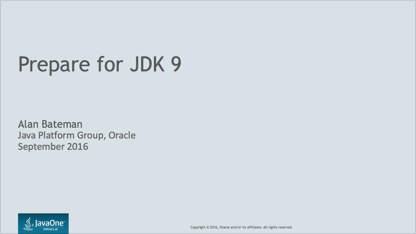Prepare for JDK9